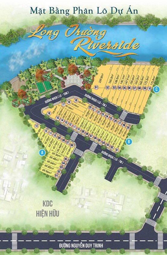 Sơ đồ phân lô Long Trường Riverside
