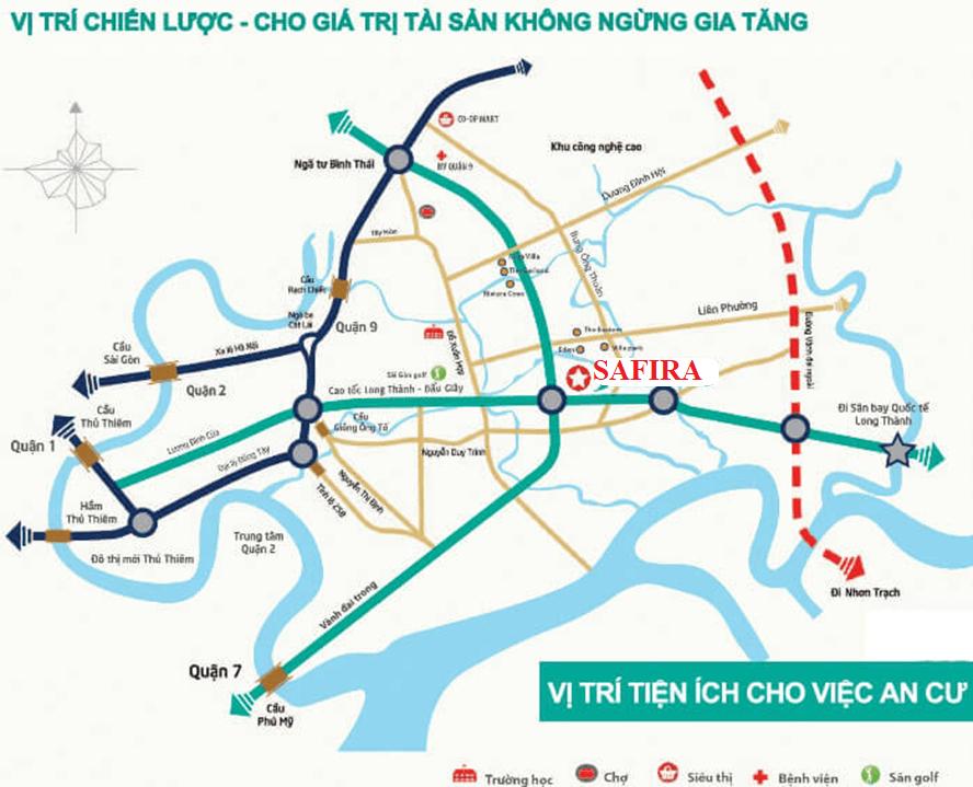 Vị trí căn hộ Safira Khang Điền Quận 9