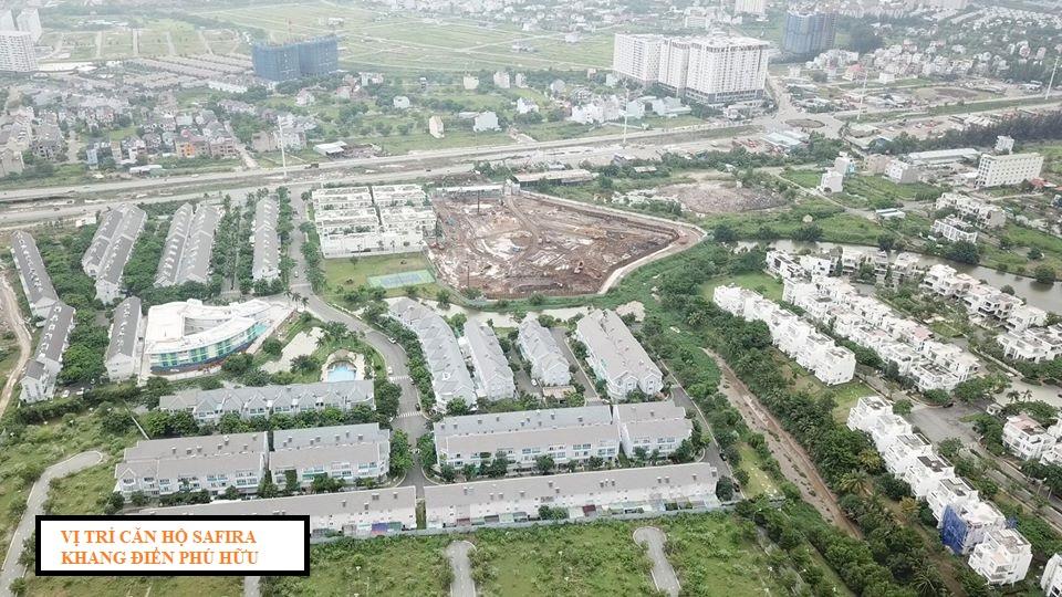 Vị trí căn hộ Safira Khang Điền tại phường Phú Hữu