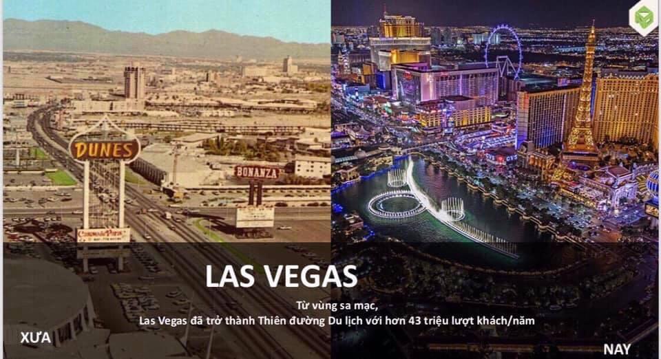 Las Vegas từ vùng sa mạc trở thành thiên đường du lịch với hơn 43 triệu lượt khách/năm