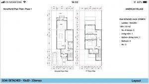 Layout Biệt thự đơn lập 12x20 Novaworld Phan Thiết