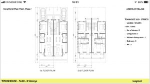 Layout Townhouse 5x20
