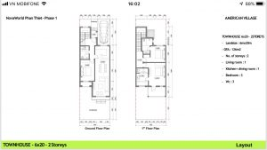 Layout Townhouse 6x20 Novaworld Phan Thiet