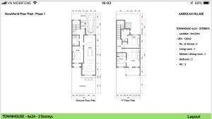 Layout Townhouse 6x24 Novaworld Phan Thiết