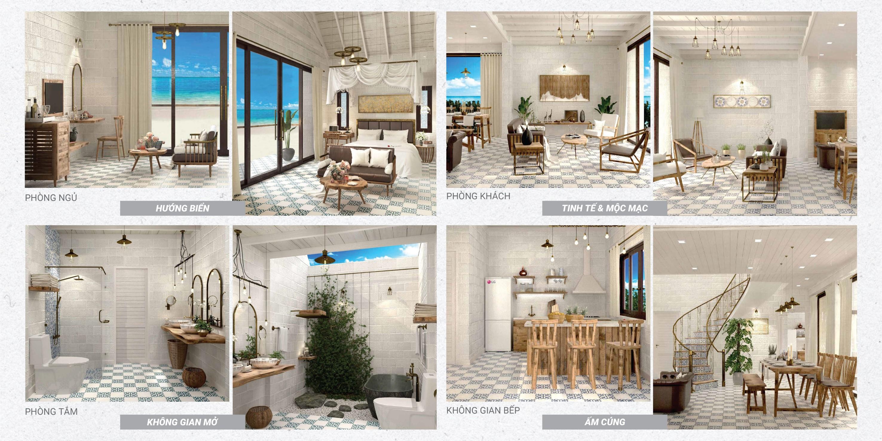 Nội thất hoàn thiện biệt thự Perolas Villa Resort