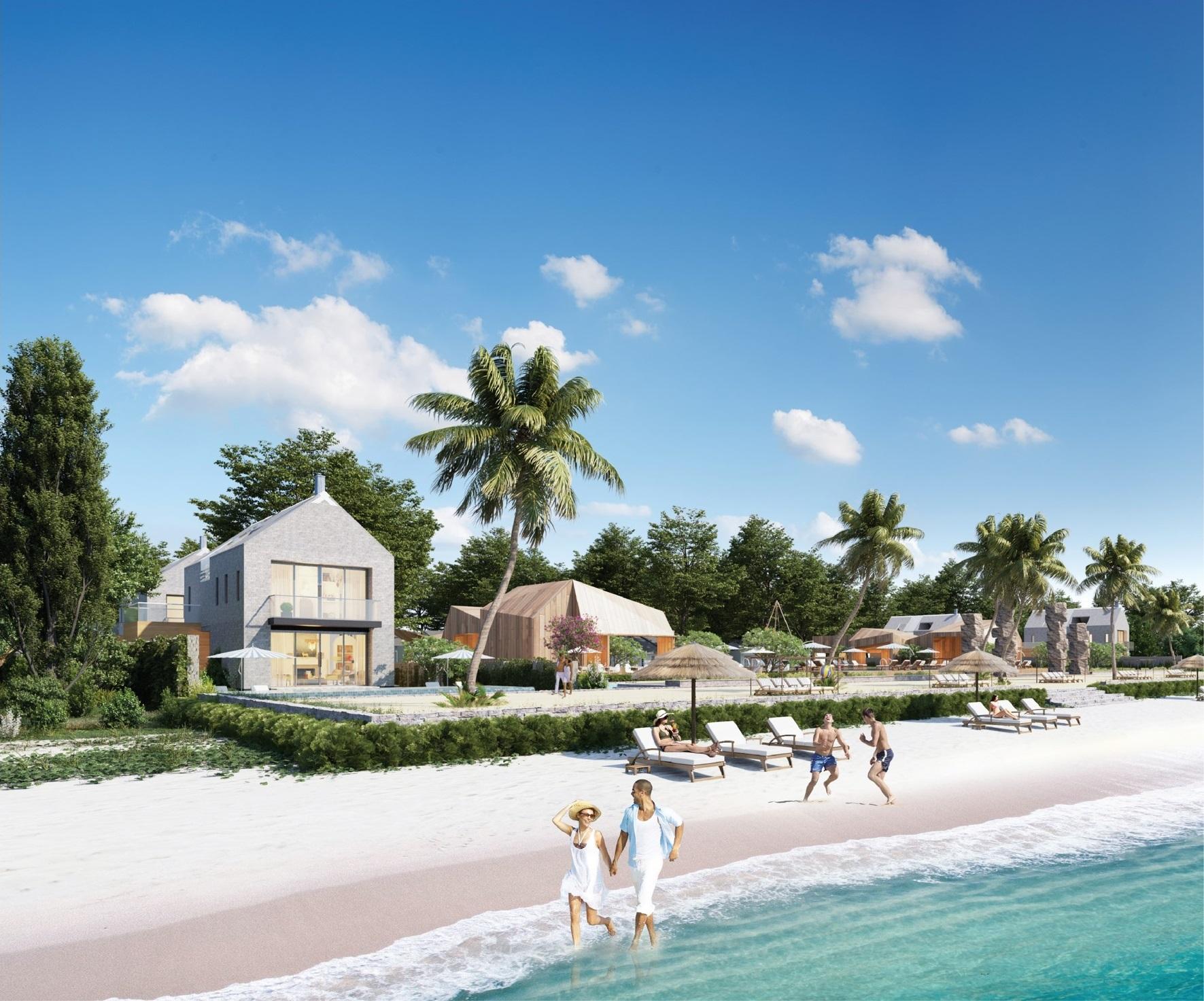 Bãi tắm riêng Perolas Villas Resort