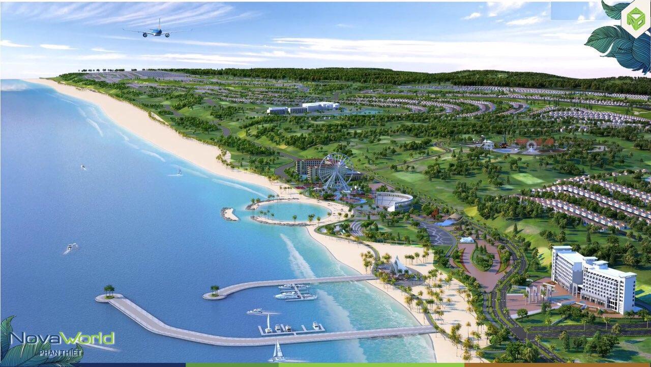 Phối cảnh tổng thể dự án Novaworld Phan Thiết trong tương lai không xa