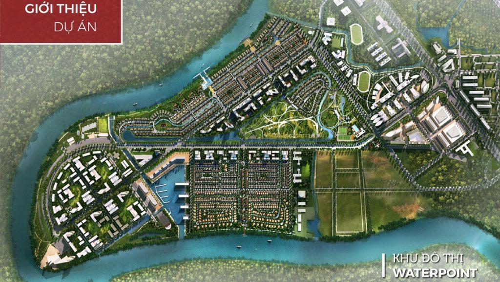 Phối cảnh tổng thể khu đô thị Waterpoint Nam Long