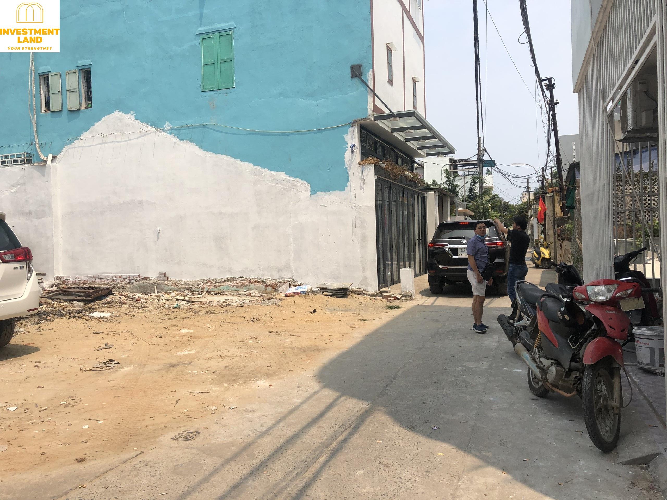 Mặt tiền hẻm trước đất đường Hồ Xuân Hương Ngũ Hành Sơn Đà Nẵng