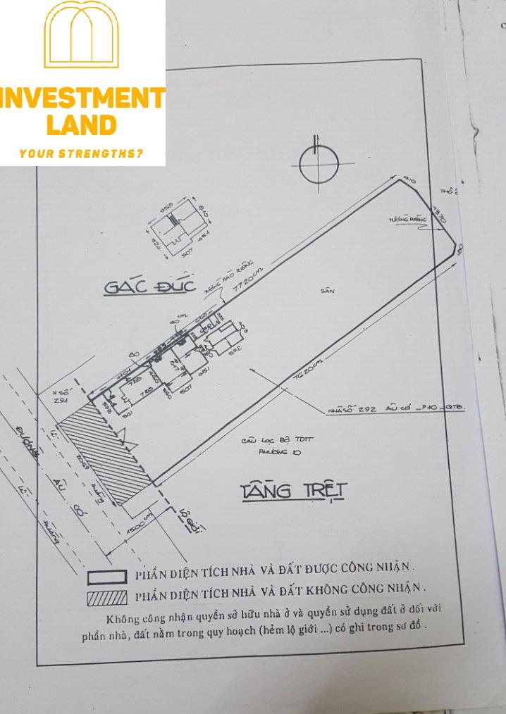 Thế đất nhà mặt tiền đường Âu Cơ phường 10 Tân Bình Tphcm
