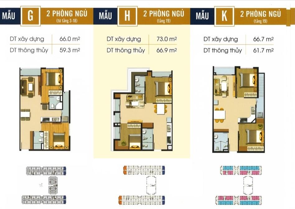 Thiết kế căn hộ G H K