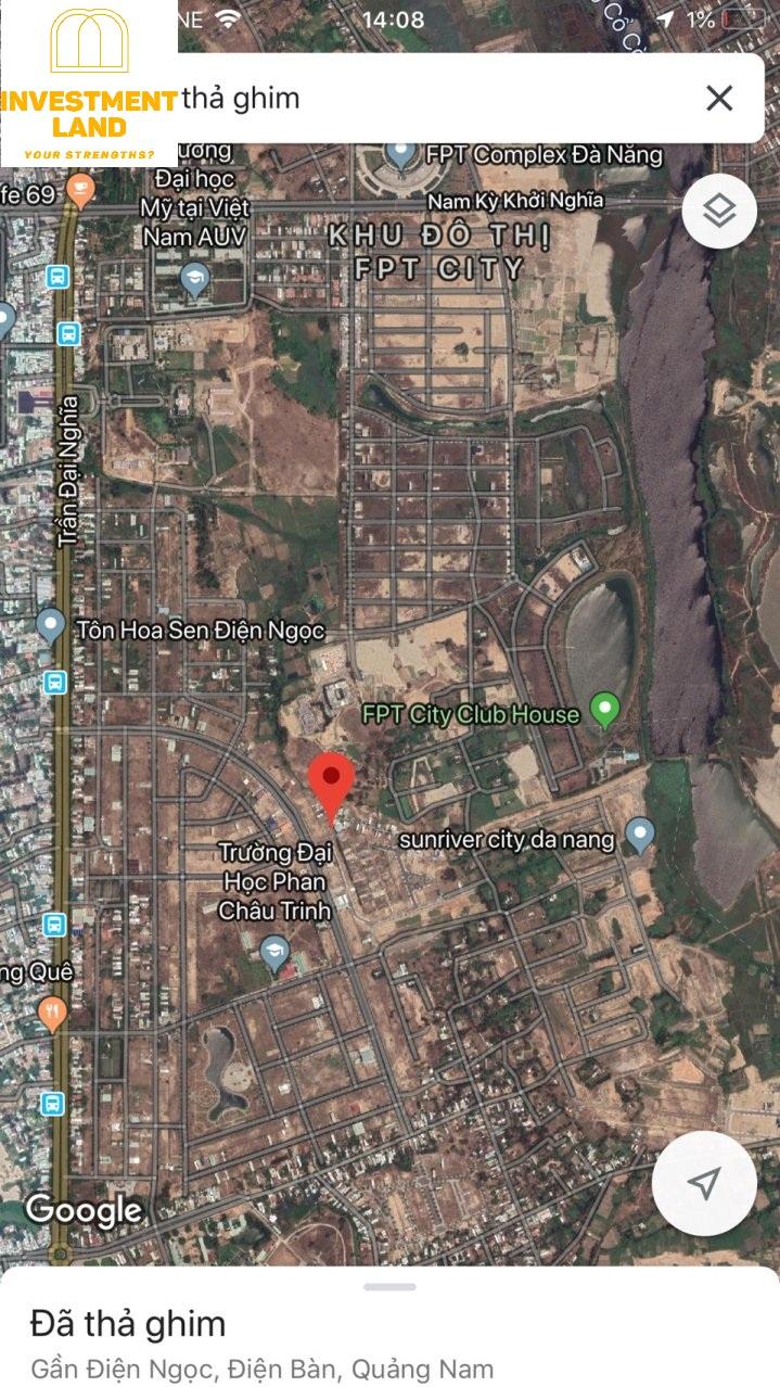 Vị trí đất khu dân cư đại học Phan Châu Trinh, Phường Điện Ngọc, Điện Bàn, Quảng Nam