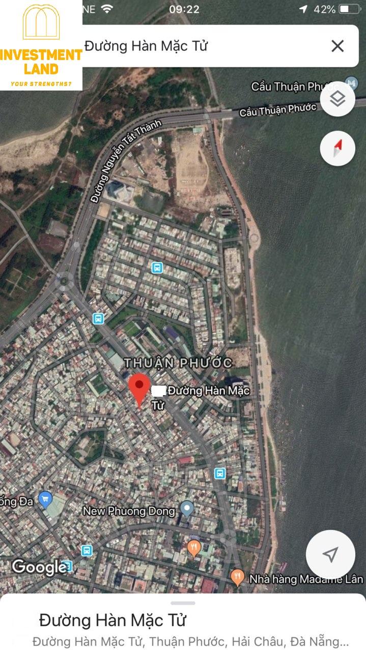 Vị trí nhà mặt tiền đường Hàn Mặc Tử quận Hải Châu Đà Nẵng