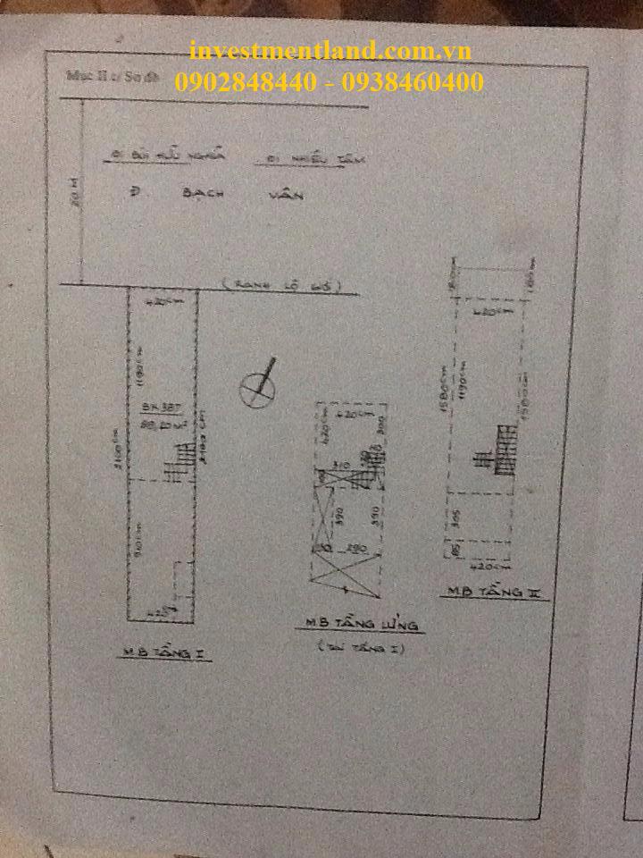 Sổ hồng nhà mặt tiền đường Bạch Vân Quận 5