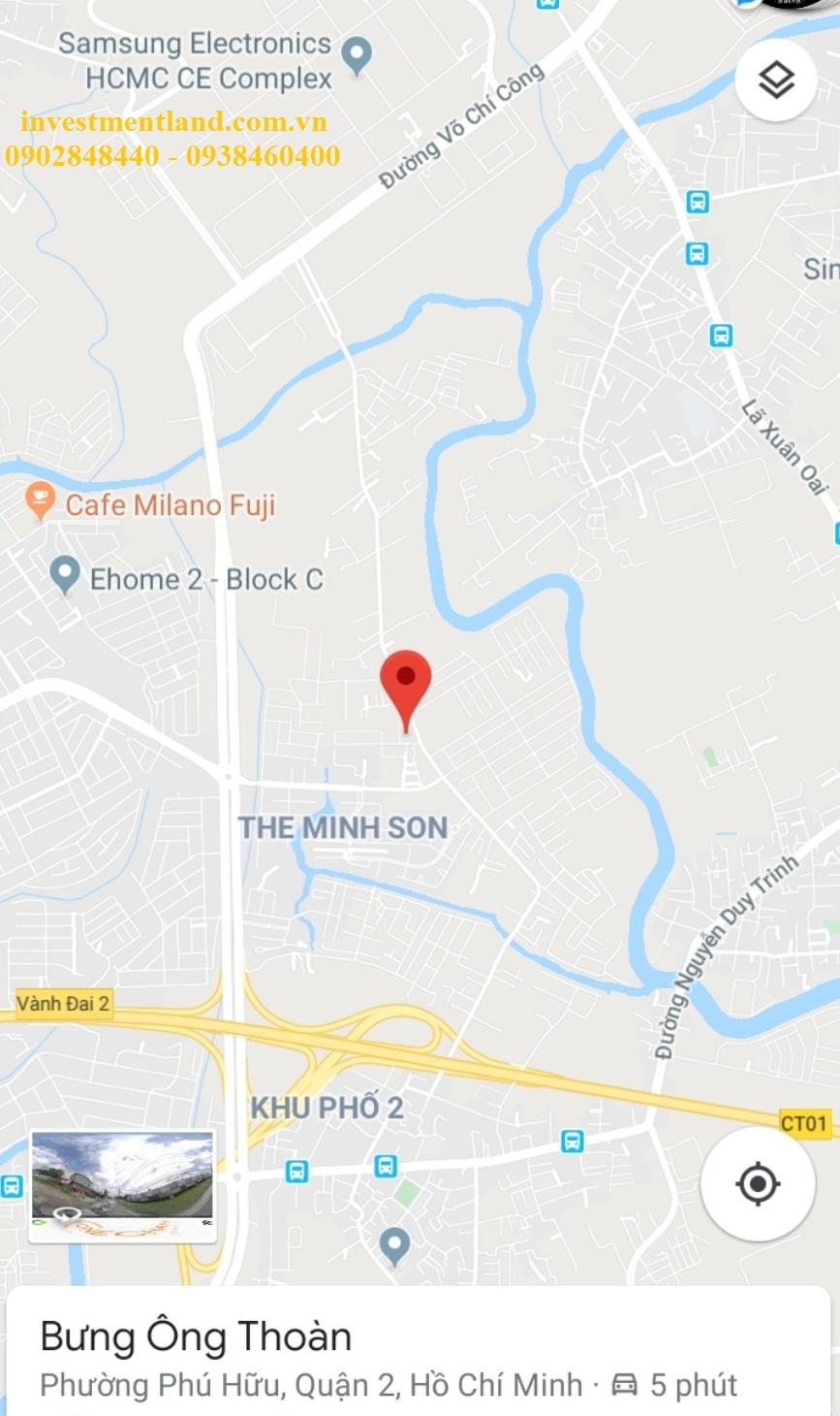 Vị trí căn hộ cho thuê đường Bưng Ông Thoàn, Quận 9, TP.HCM