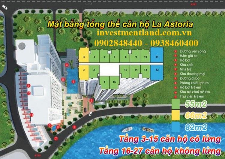 Thiết kế tòa căn hộ và các tiện ích tại La Astoria