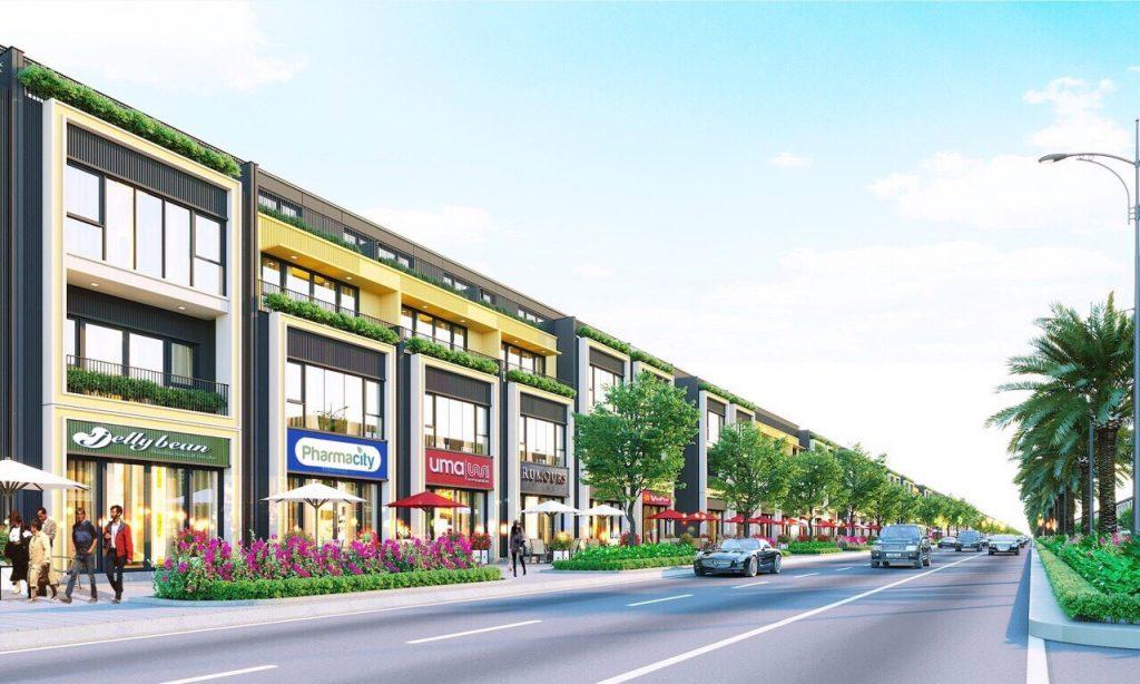 Tuyến phố shophouse dự án 92ha Long Thành Đồng Nai