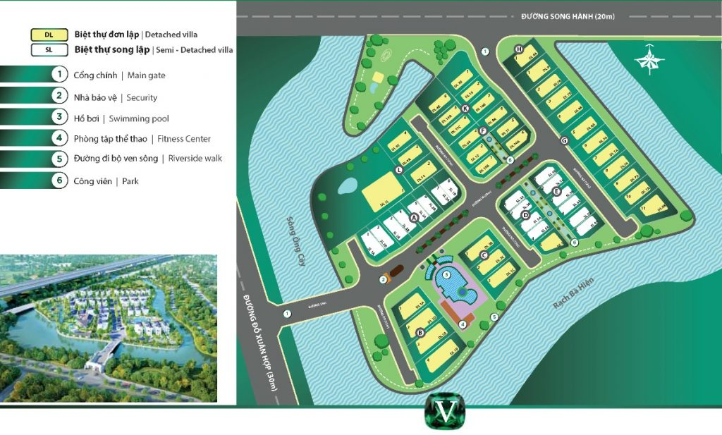 Mặt bằng dự án biệt thự Venica Khang Điền Quận 9