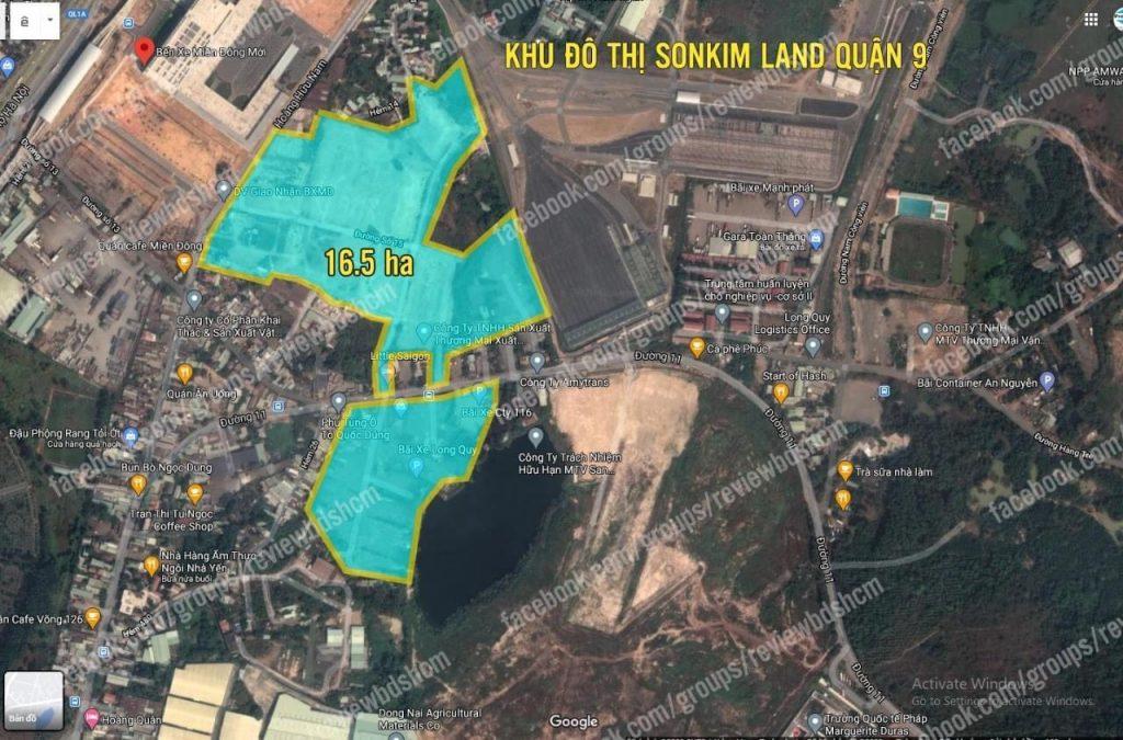 Dự án nhà biệt thự căn hộ Sơn Kim Land tại Quận 9 nằm đối diện bến xe Miền Đông mới và bên cạnh ga Metro Suối Tiên - Ga cuối trong tuyến Metro số 1 đang hiện hữu.